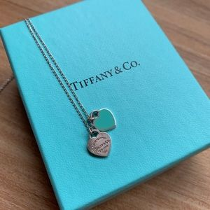 Tiffany & Co. Tags necklace with Blue enamel